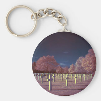 Infrared American Cemetery Crosses Key Ring
