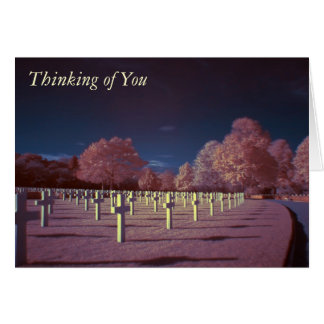 Infrared American Cemetery Crosses Thinking of You Card