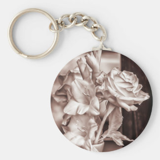 Infrared Bouquet Basic Round Button Key Ring