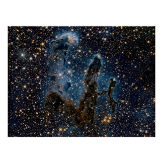 Infrared Eagle Nebula Pillars of creation Poster