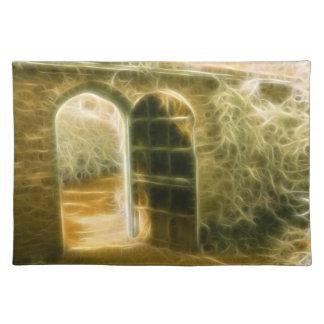 Infrared Fairy Garden Door Placemat