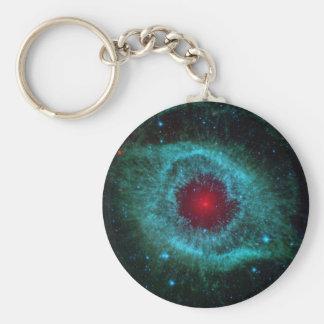 Infrared Image of the Helix Nebula Basic Round Button Key Ring