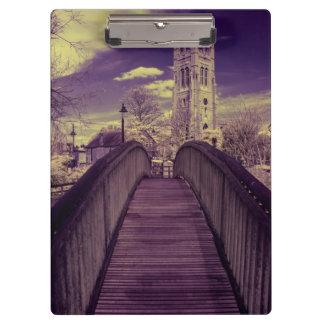 Infrared landscape Bridge and Church Clipboard