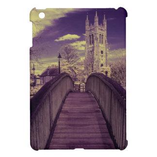 Infrared landscape Bridge and Church iPad Mini Covers