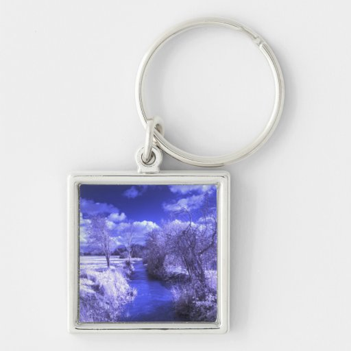 Infrared landscape with stream key chains