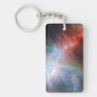 Infrared Light in the Orion Nebula Double-Sided Rectangular Acrylic Key Ring