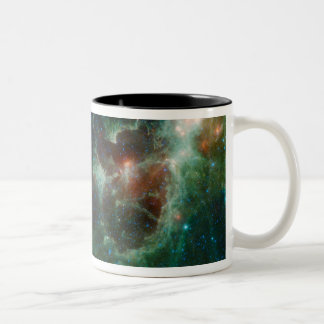 Infrared mosaic of the Heart and Soul nebulae Two-Tone Coffee Mug