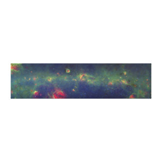 Infrared Portrait of the Inner Milky Way Galaxy Stretched Canvas Prints