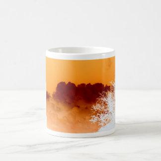 Infrared Sky & Tree Basic White Mug