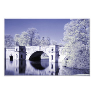 Infrared, The Grand Bridge, Blenheim Palace, Print Art Photo