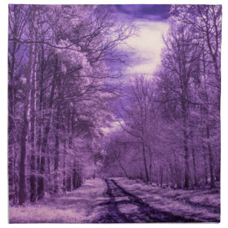 Infrared track through the woods napkin