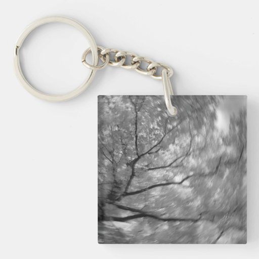 Infrared Tree Abstract Acrylic Keychains