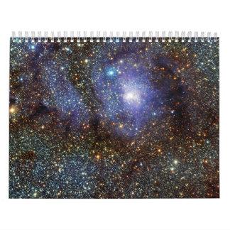 Infrared View Lagoon Nebula Messier 8 M8 NGC 6523 Calendar