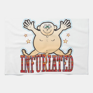 Infuriated Fat Man Tea Towel