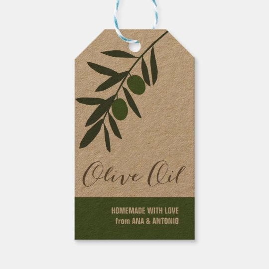 Infused Olive Oil Gift Tag, favour tag,