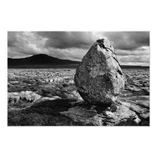Ingleborough from Twisleton Scars - Mono Photograph