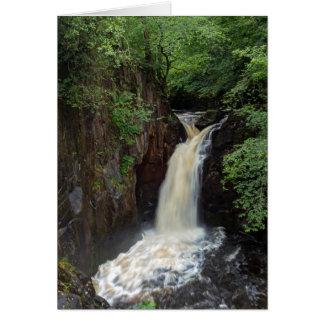 Ingleton Falls, Yorkshire greeting card