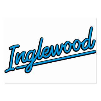 Inglewood in cyan business card
