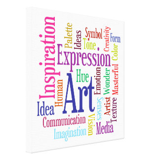 Ingredients of Art Colorful Artist's Word Cloud Gallery Wrapped Canvas