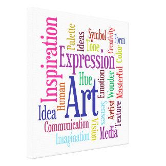 Ingredients of Art Colorful Artist's Word Cloud Canvas Prints
