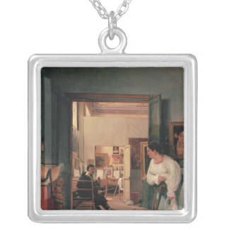 Ingres' Studio in Rome Silver Plated Necklace