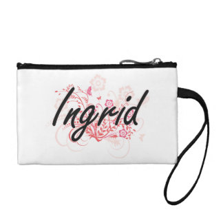 Ingrid Artistic Name Design with Flowers Change Purses