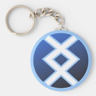 Ingwaz Ing Inguz Basic Round Button Key Ring