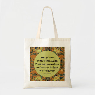 Inherit the earth tote bags