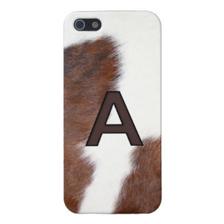 Initial A Cow Print Brand - Iphone 5 Cover / Case