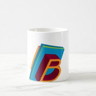 Initial B Basic White Mug