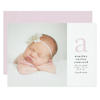Initial birth announcement