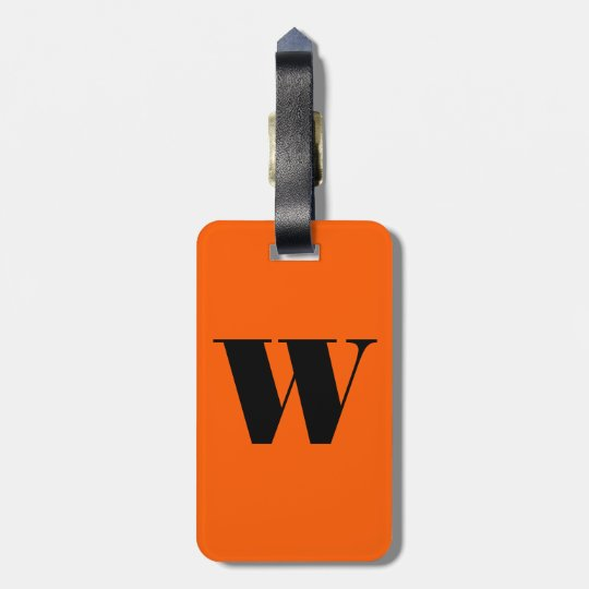Initial & Business Card Luggage Tag