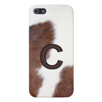 Initial C Cow Print Brand - Iphone 5 Cover / Case