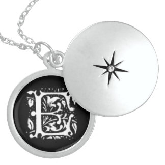 Initial D Custom Sterling Silver Round Locket