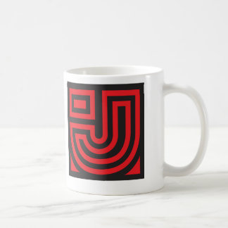 Initial for names starting with J Coffee Mug