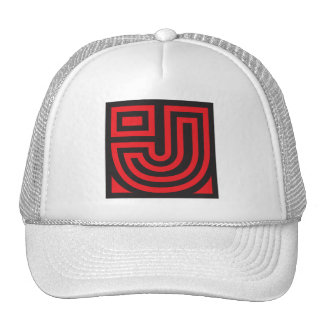 Initial for names starting with J Trucker Hat