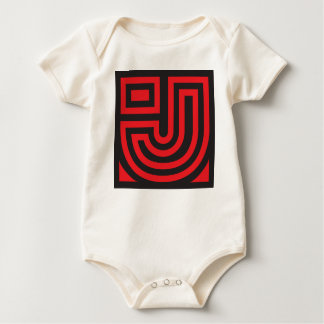Initial for names starting with J Baby Bodysuit