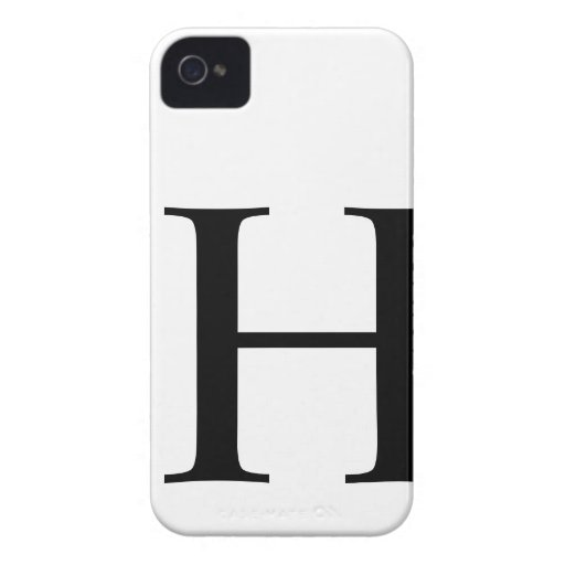 Initial H iPhone 4/4S Barely There Case iPhone 4 Covers