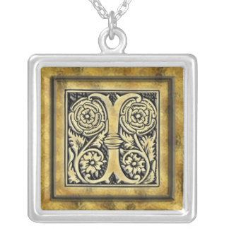 Initial I Goth Style Silver Necklace