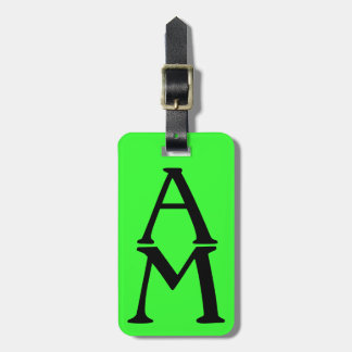 Initial Impression Green Luggage Tag