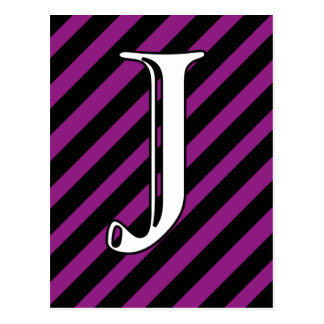 Initial J Postcard