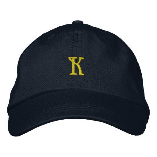 """INITIAL """"K"""" Designer Cap Embroidered Hat"""