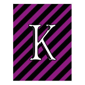 Initial K Postcard
