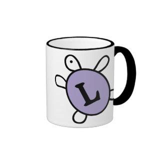 Initial L Turtle Mug