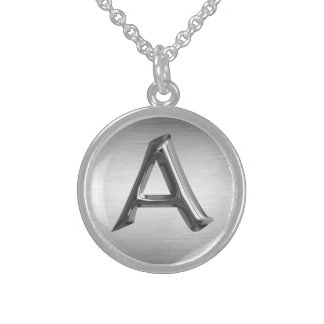 "Initial Letter ""A"" Sterling Silver Necklace"