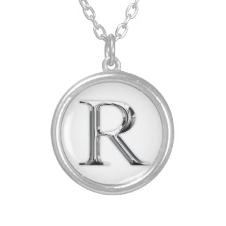 Initial Letter Silver Plated Necklace