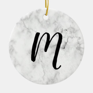 Initial MARBLE Ornament | Simple and Sweet