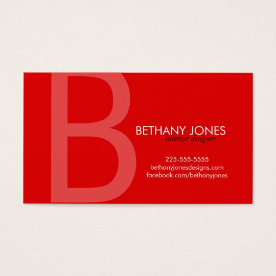 Initial Monogram Business Business Card