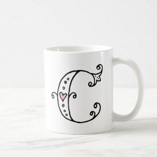 Initial Monogram Mug - C