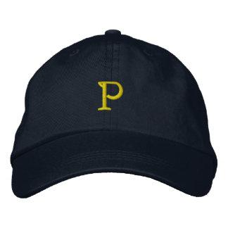 """INITIAL """"P"""" Designer Cap Embroidered Baseball Cap"""